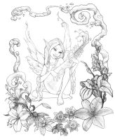 Faerie Sketch by louisefournier
