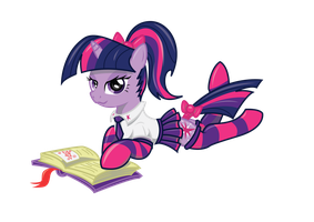 Twilight Sparkle learning by varijani