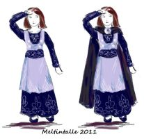 A Narnian dress for Jill Pole1 by Meltintalle