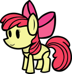 Applebloom Paper Pony by FinePrint-MLP