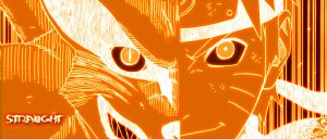 naruto and 9 tails as one by stralight2011