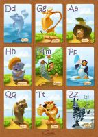 ABC Cards for Kids. Romanian set. by creaturedesign
