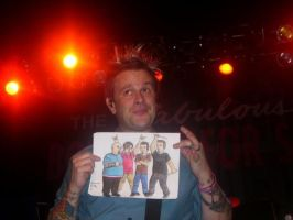 Jaret holding up myBFS drawing by MelyssaThePunkRocker