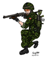 Canadian Army Combat Engineer by ND-2500