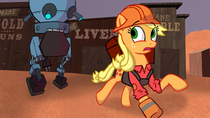 Applejack (Mare vs. Machine) by fullmetaldalek