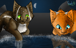 Sisters at the moonpool----x by Finchwing