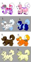 FLUFFY DOGGIE ADOPTS! (price reduced10-15 points) by cassybabyfur