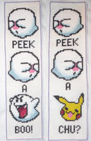 boo bookmark cross stitch by technoninjacus