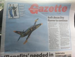 My photo on the front page of the local paper!!! by DesignKReations