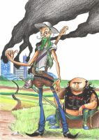 Don_Quijote_y_Sancho by Zoeira