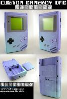 Custom Baby Blue Gameboy v1 by Thretris