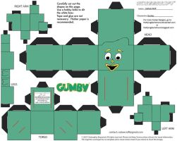 Gumby: Gumby Cubee by TheFlyingDachshund