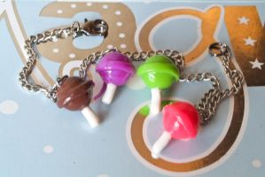 lollipop charm bracelet by PoisonedAppleAcc