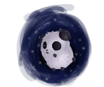 space bound panda by sunadokeichi