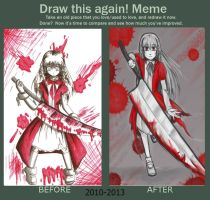 Meme: Before and After-Little Red Riding Hood by MESS-Anime-Artist