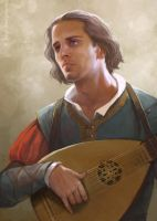 Dandelion the bard by CG-Warrior