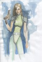 Watercolor sketch, by davenported