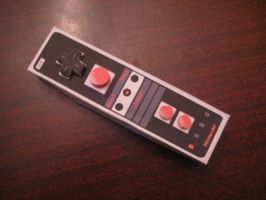Retro wiimote papercraft by LegoMyFoot