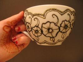Henna Teacup 2 by Nomandy
