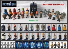 Doctor Who - Micro Figures by mikedaws
