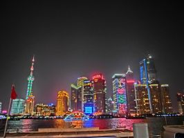 Shanghai. The Bund at night. by Eiaolaf