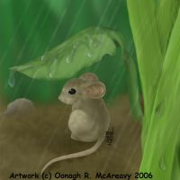 Rainy Days Mouse by randomonia