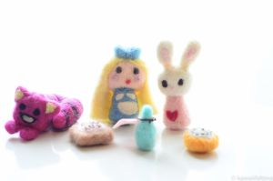 Alice in Wonderland Needlefelt by kawaiifelting