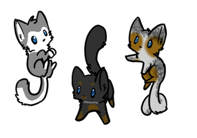 dog themed cat adoptables ~CLOSED~ by tabbykitty123