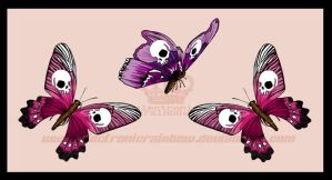 SkullButterflies Tattoo Design by ElectronicRainbow