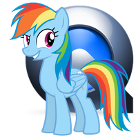 Rainbow Dash Quicktime Icon by LostInTheTrees