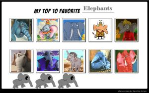 My Top 10 Favorite Elephants by SithVampireMaster27
