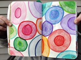 Wreck This Journal: Fill This Page With Circles. by HeavenlyWitchx