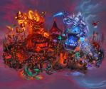 The Midsummer Fire Festival by The-SixthLeafClover
