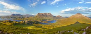Assynt Panorama by Dave-Derbis