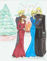 XmasCommission: The Malfoys by EditorDee