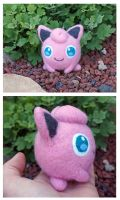 Felted Pokemon Jigglypuff plush by scilk