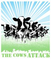 the cows attack by saatchii