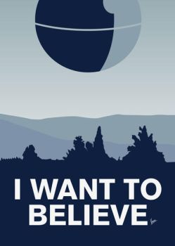 My I want to believe minimal poster-deathstar by Chungkong