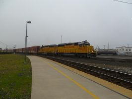 UP GP40-2's 1453 and 1365 by BNSF