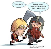 Tyrion Lannister and Gimli by iliaskrzs