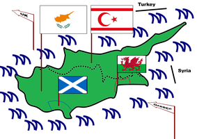 Cyprus with Scotland and Wales by revinchristianhatol