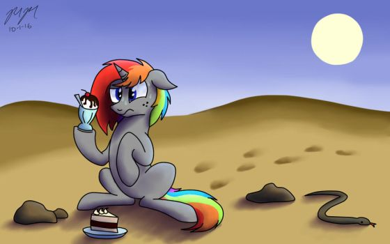 Deserted In The Desert With Dessert by OokRazek