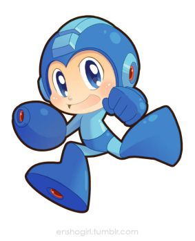 Chibi Megaman by jiggly