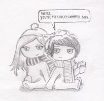 Sam and Grace chibi by pathetickid04