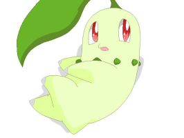+Chikorita+ by FoxDemon12