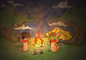 Lagerfeuer Romantic by wolf-lion