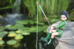 Gon Fishing by here-and-faraway