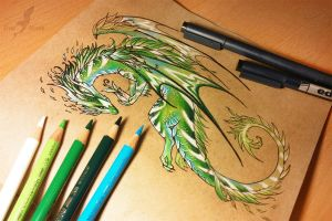 Nature dragon by AlviaAlcedo