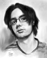 Quick portrait request (Neogaf forum user) by FiRez-DA