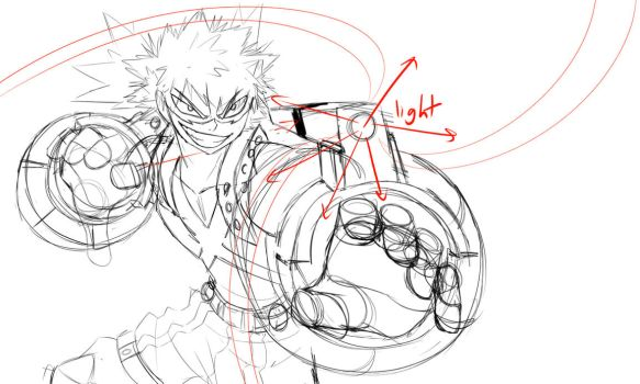 Bakugou WIP Sketch by whymeiy